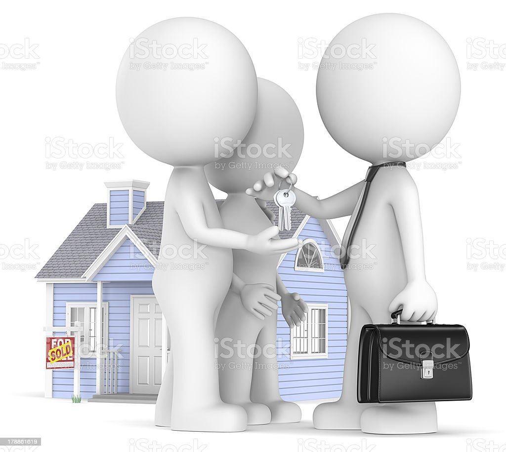 Buying a House. royalty-free stock photo