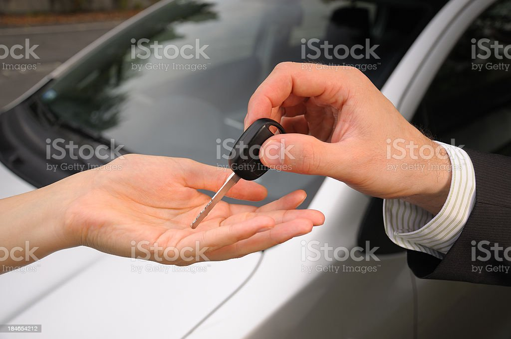 Buying a new car royalty-free stock photo