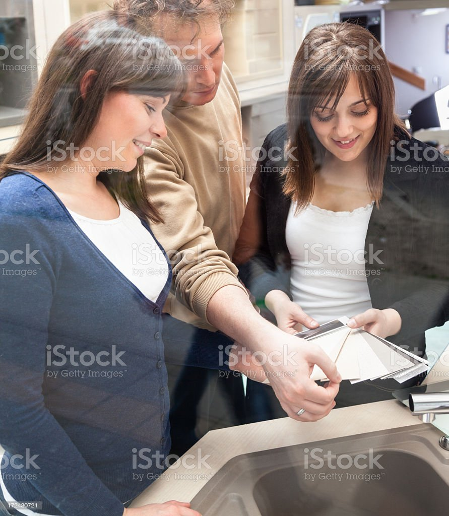 Buying a new furniture royalty-free stock photo