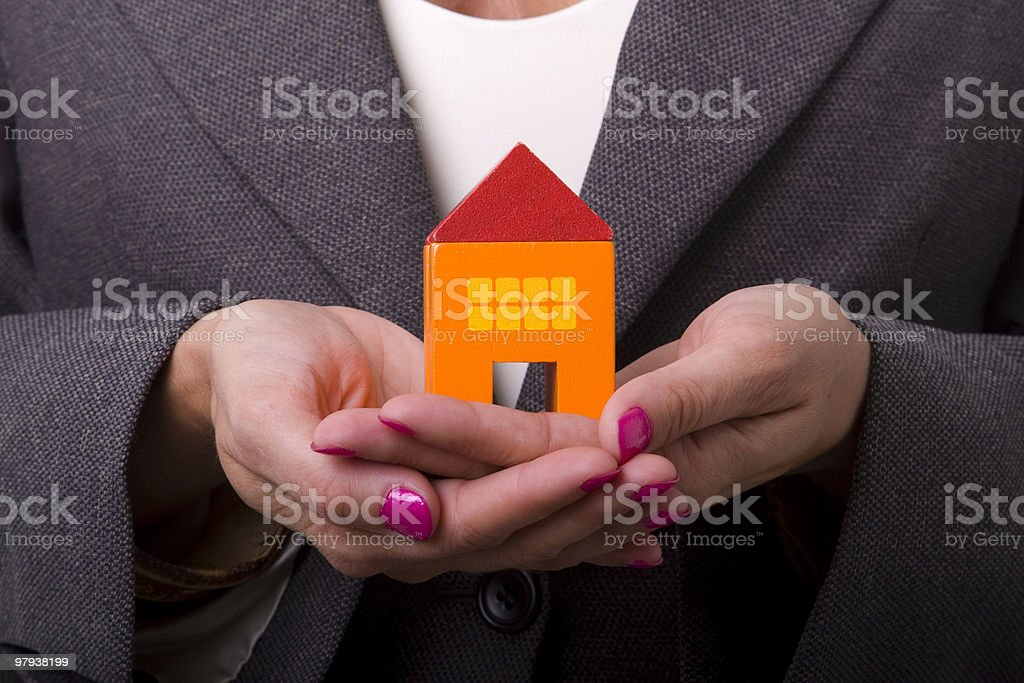 Buying a new house stock photo