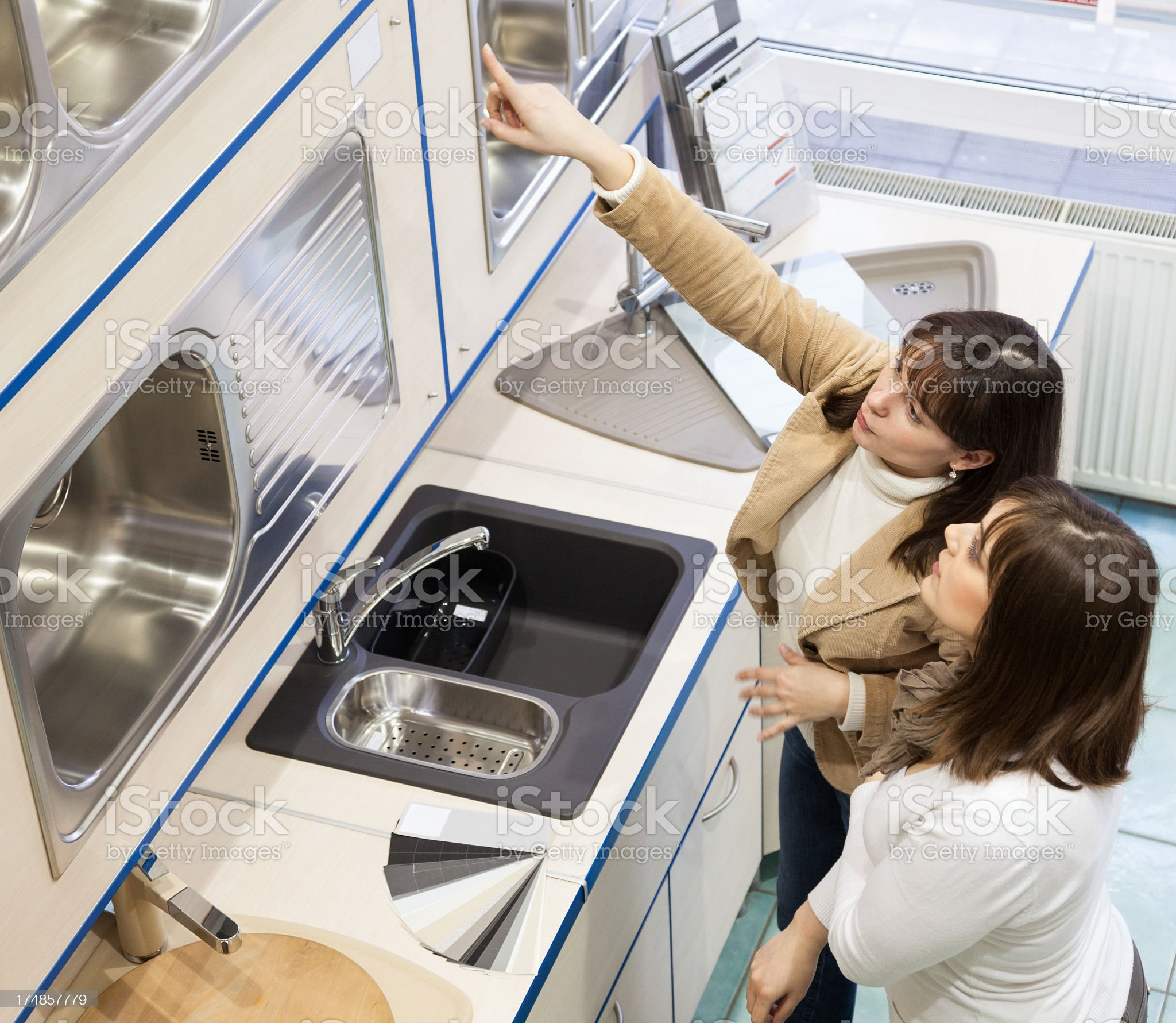 Buying a new kitchen royalty-free stock photo