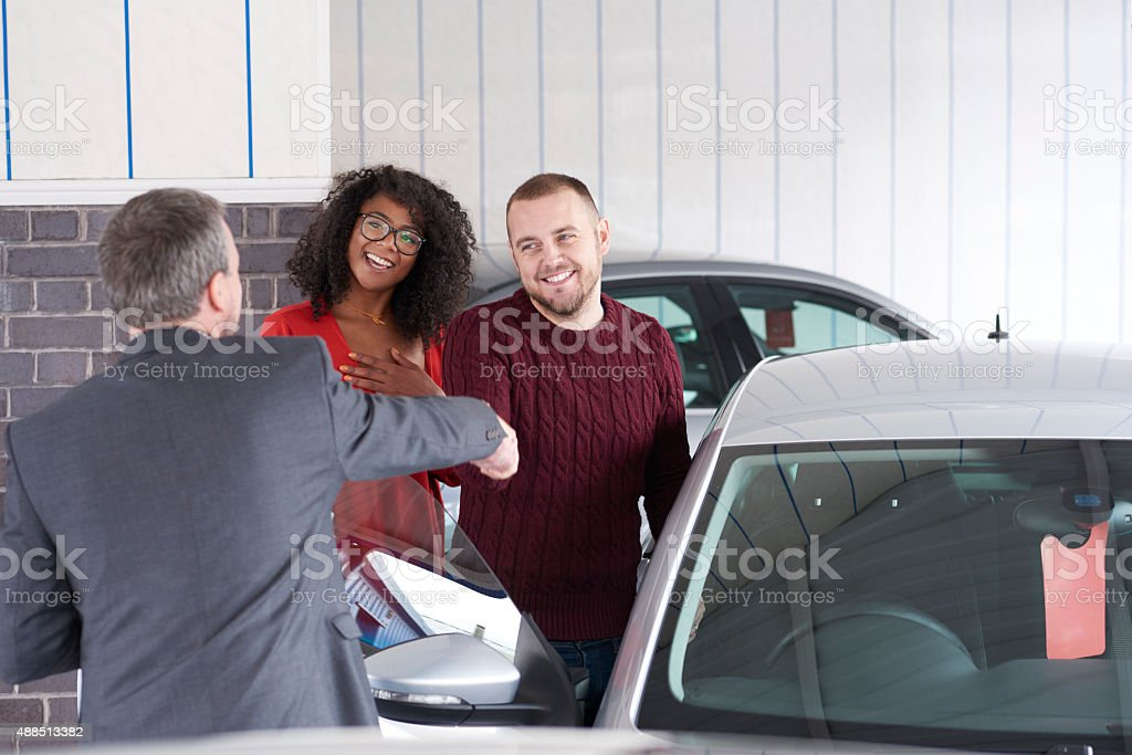buying a second hand car stock photo