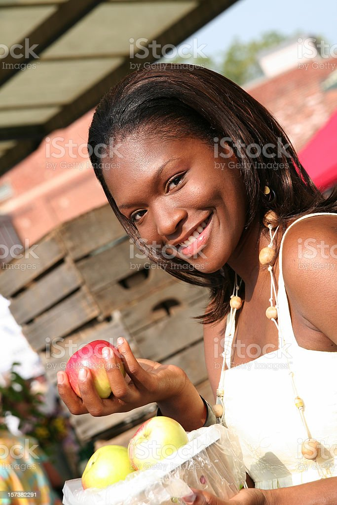 Buying Apples royalty-free stock photo