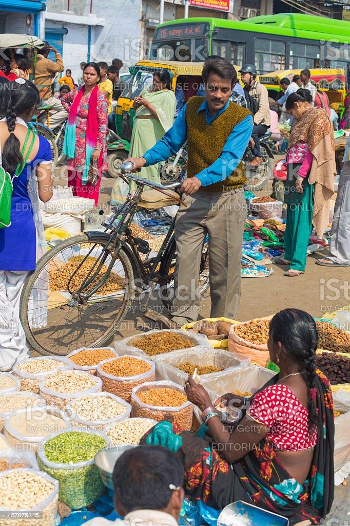 Buying Bulk Spices royalty-free stock photo
