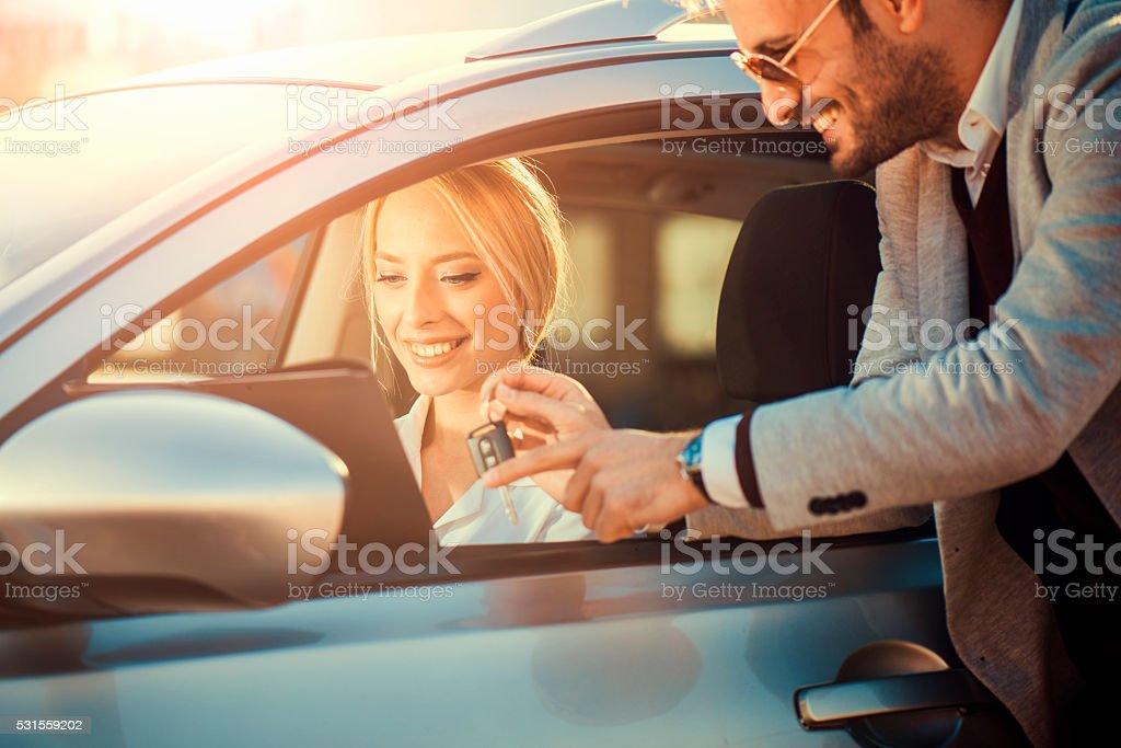 Buying car stock photo