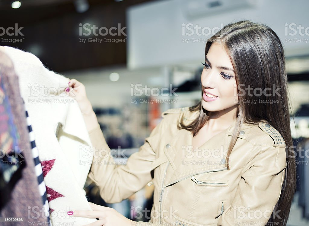 Buying clothes royalty-free stock photo