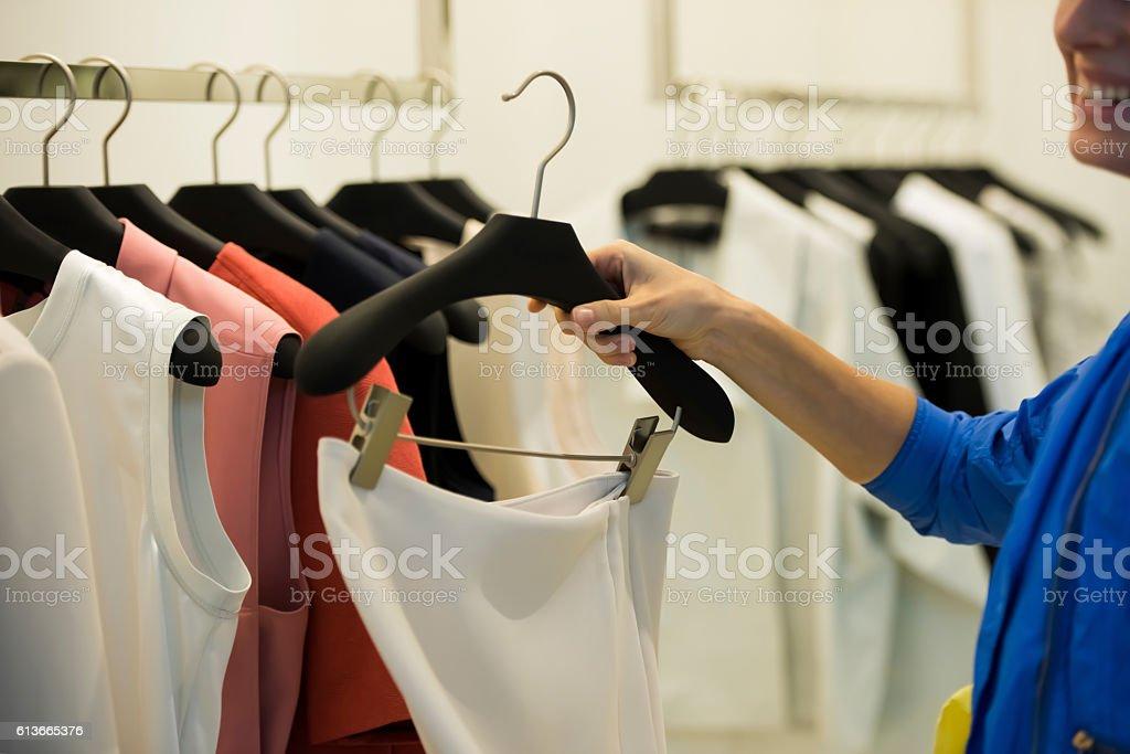 Buying clothing stock photo
