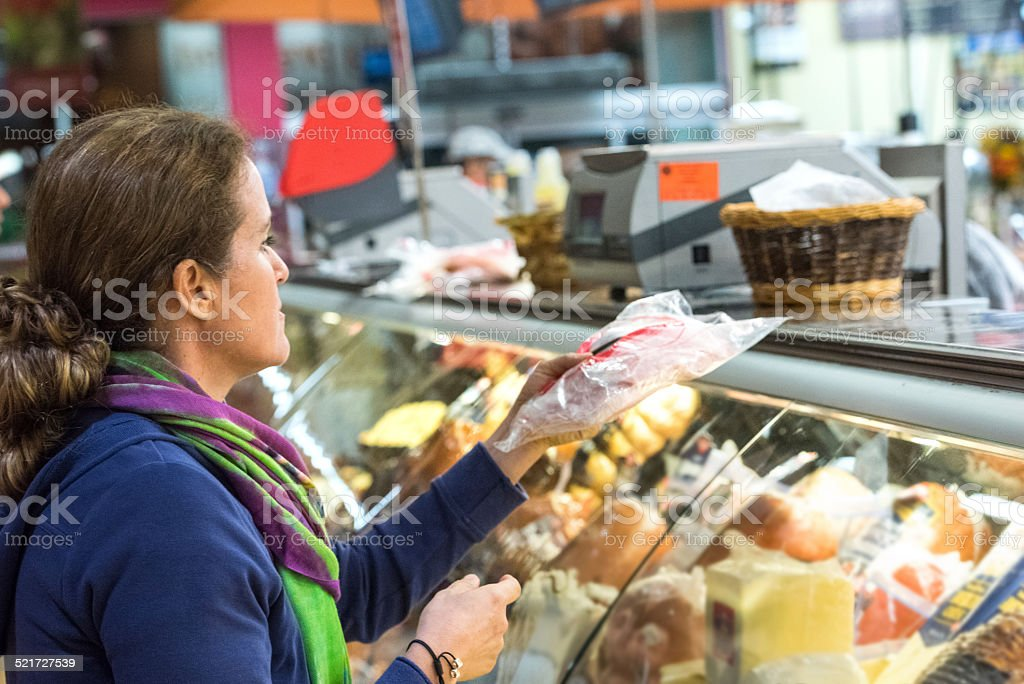 Buying Cold Cuts stock photo