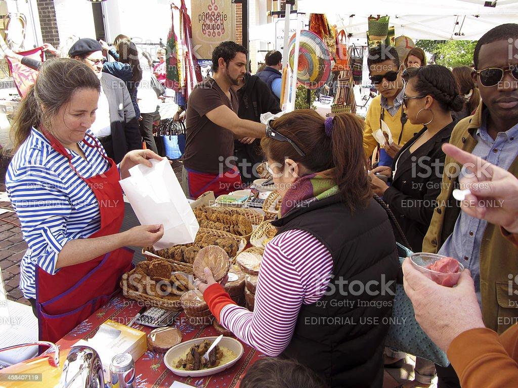 Buying Cookies royalty-free stock photo