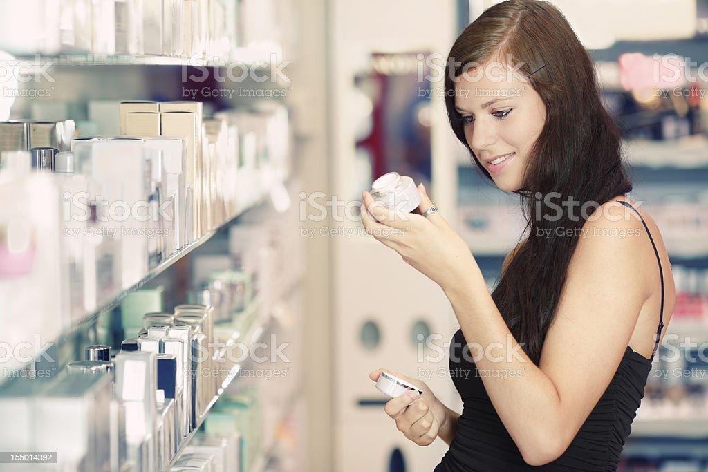 buying cosmetics stock photo