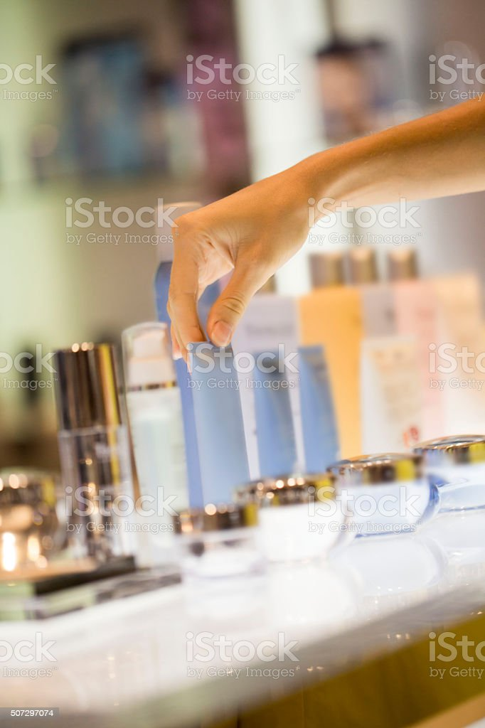 Buying face product stock photo