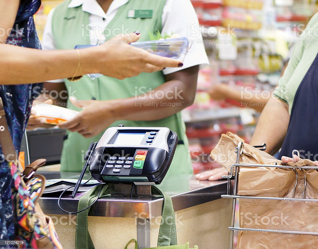 Buying food stock photo