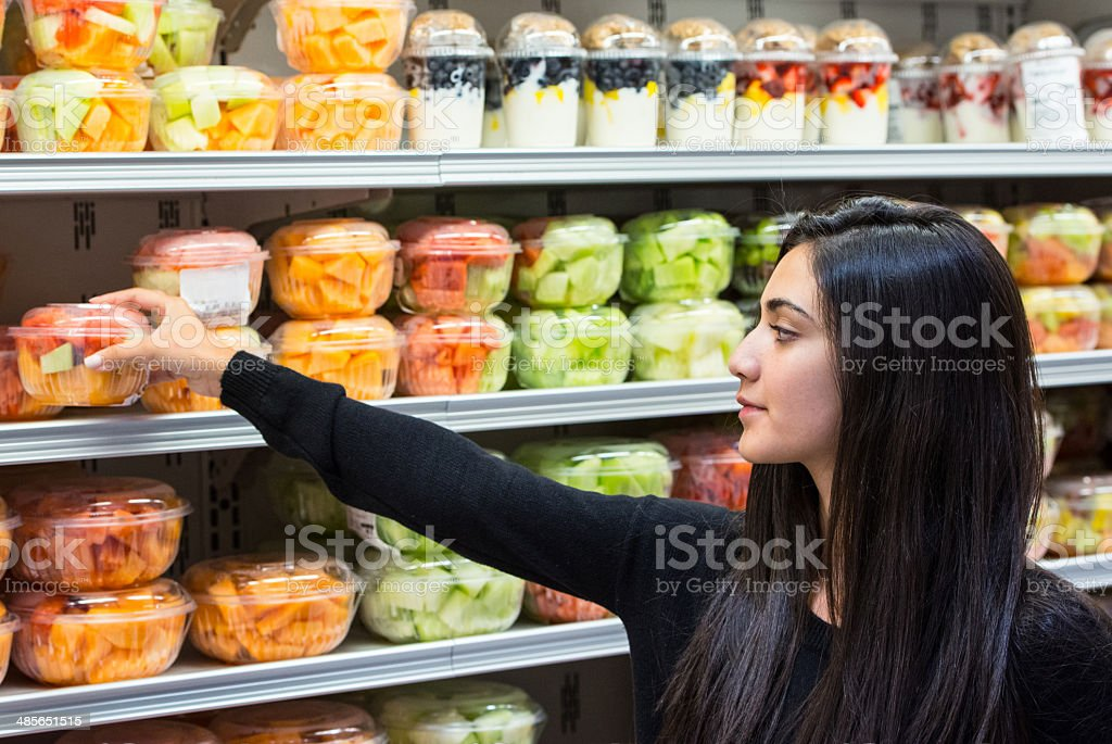 Buying fruit stock photo