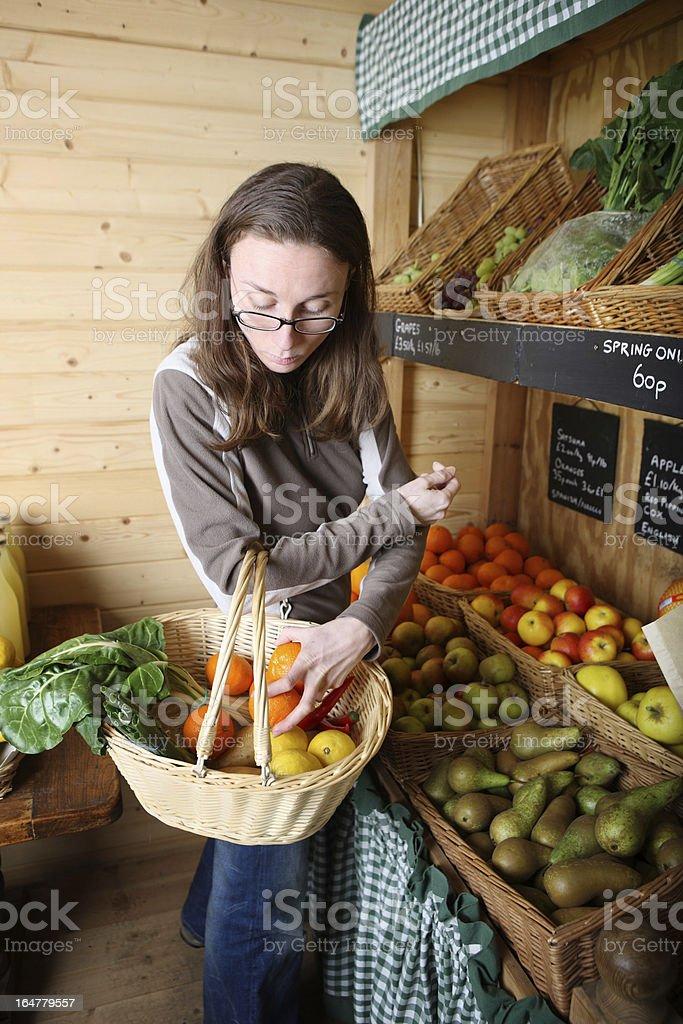 Buying fruits royalty-free stock photo