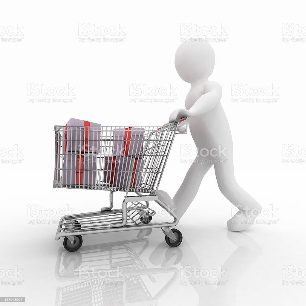 Buying gifts royalty-free stock photo