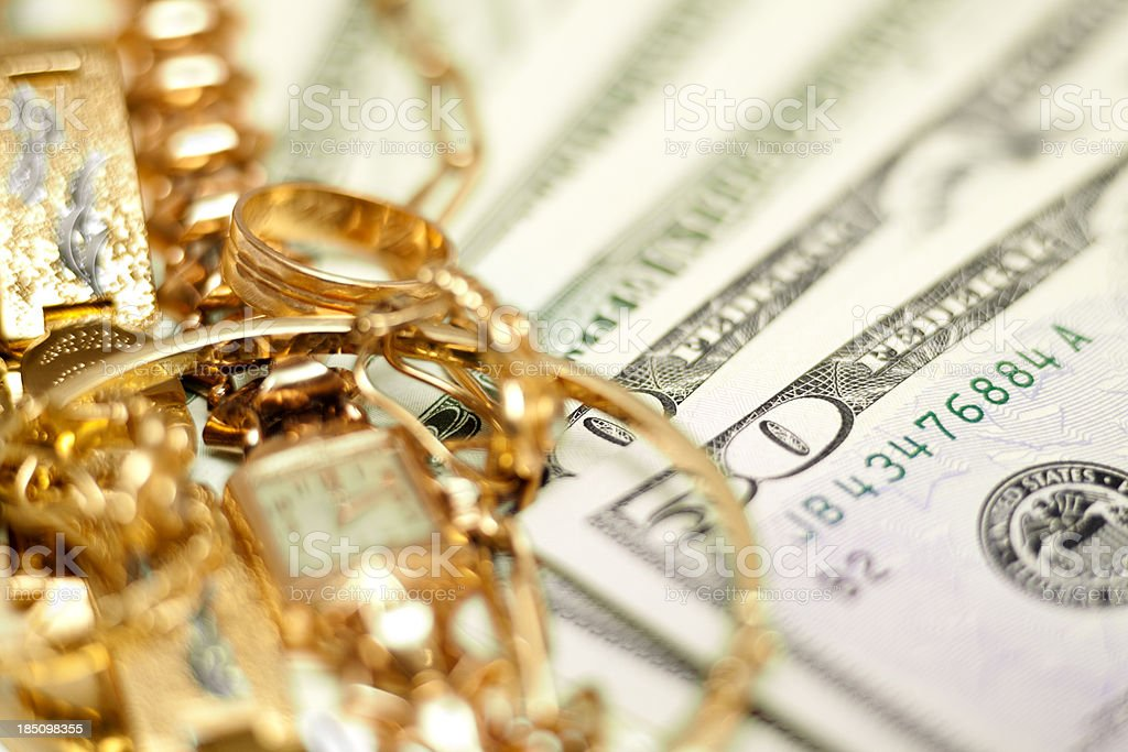 Buying gold concept stock photo
