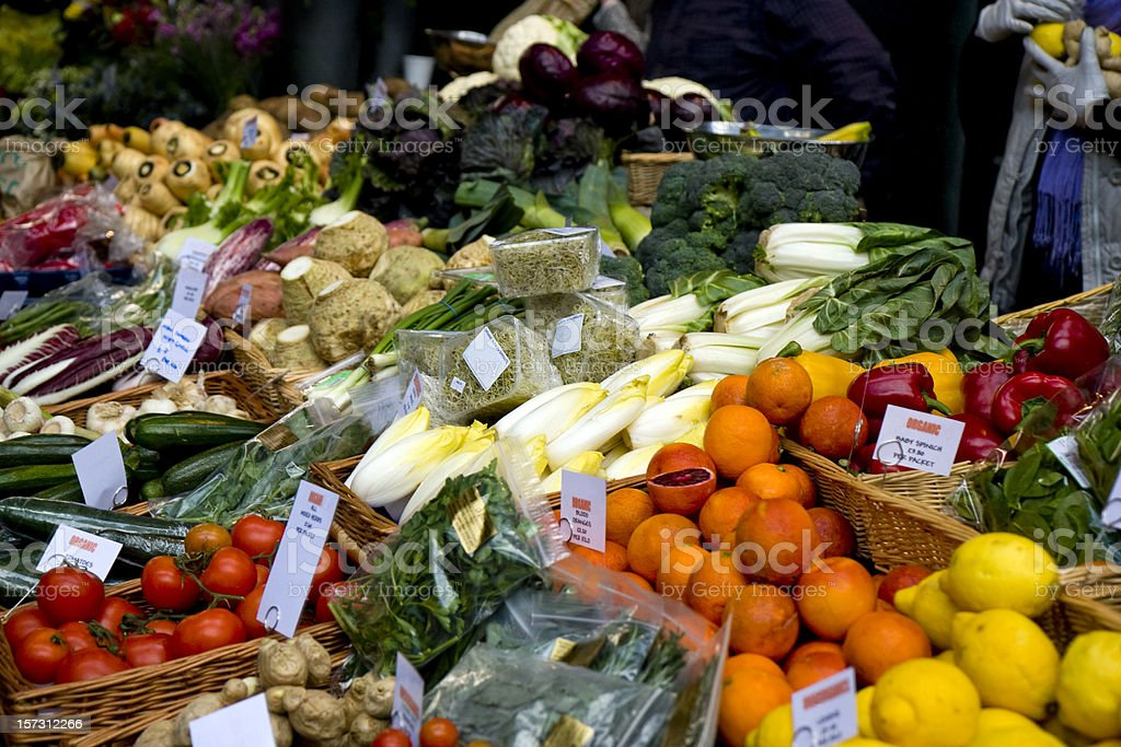 Buying greengrocery royalty-free stock photo