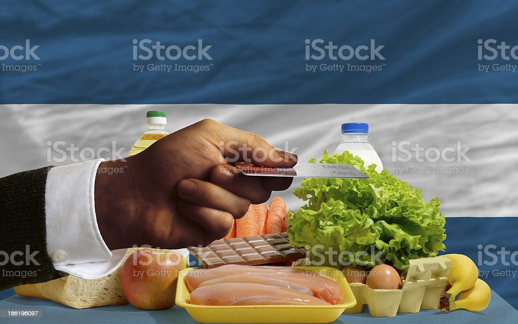 buying groceries with credit card in el salvador royalty-free stock photo