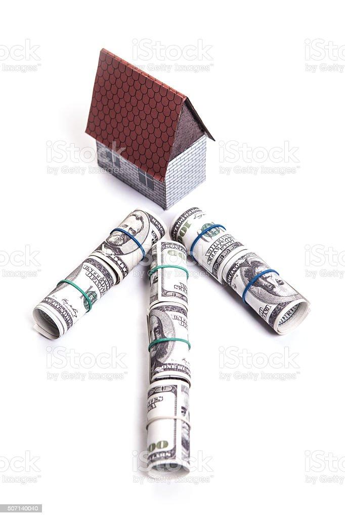 Buying house stock photo