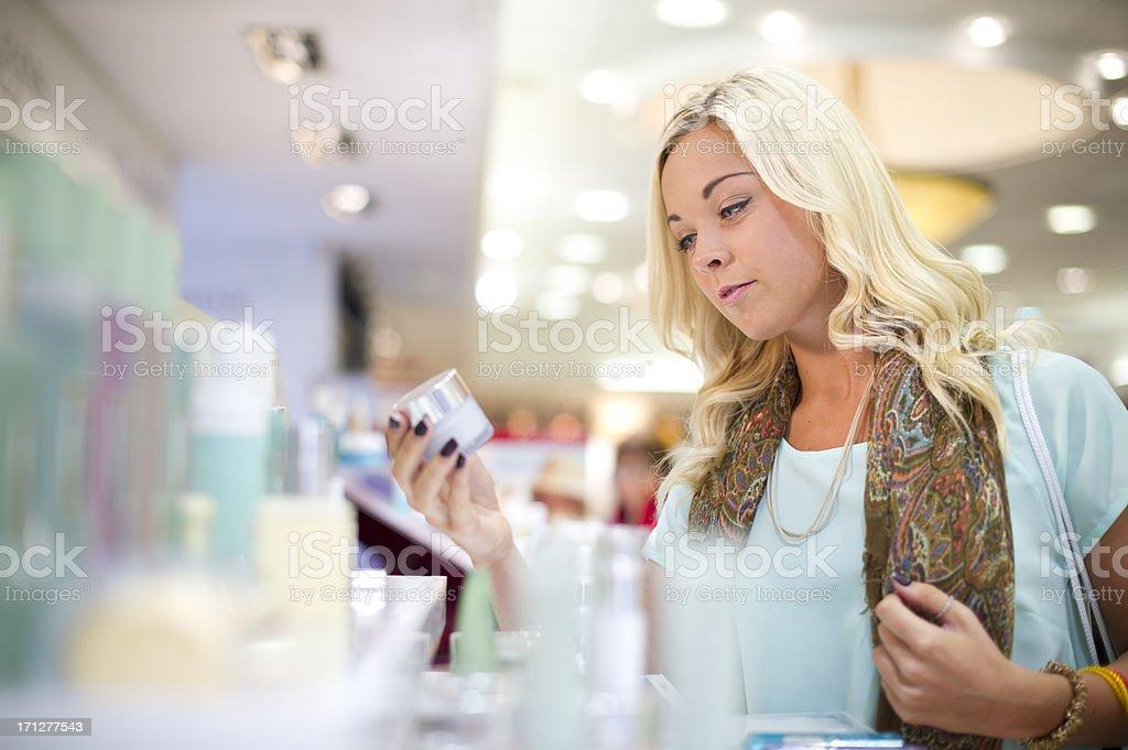 buying make-up stock photo