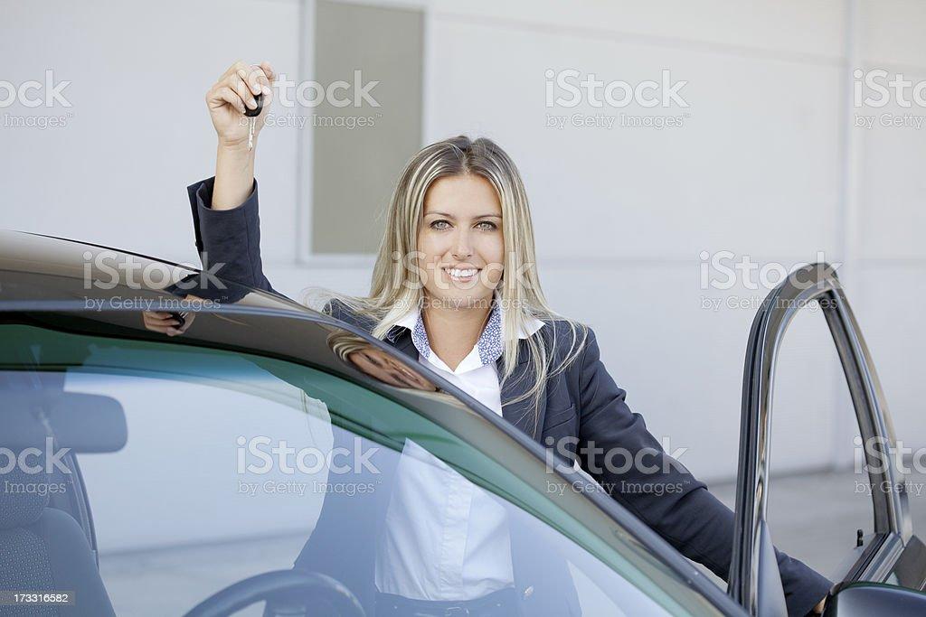 buying new car royalty-free stock photo