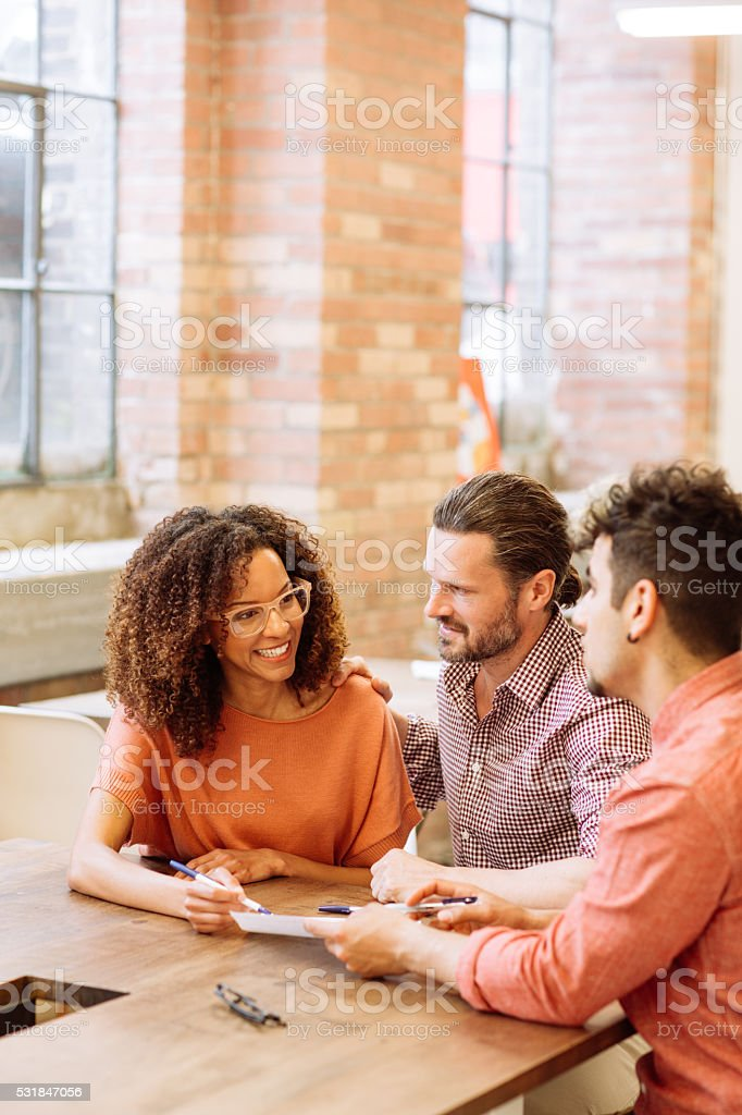 Buying new condo stock photo