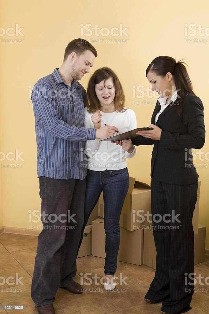 buying new flat royalty-free stock photo