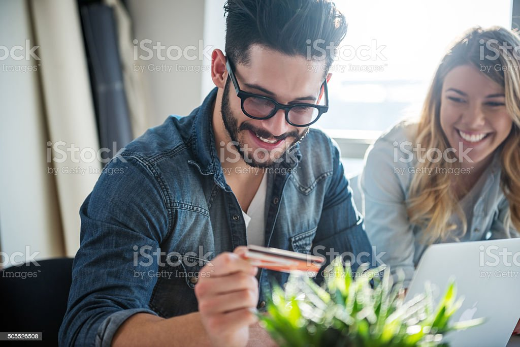 Buying online stock photo