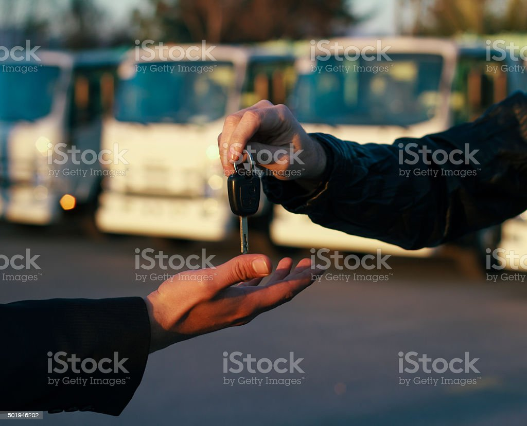 Buying Truck stock photo