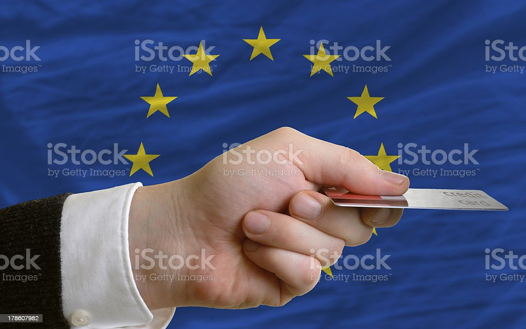 buying with credit card in europe royalty-free stock photo