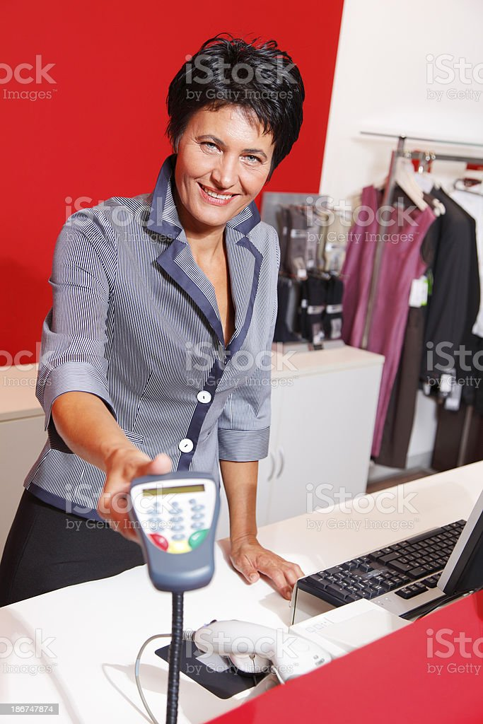 Buying with credit card royalty-free stock photo