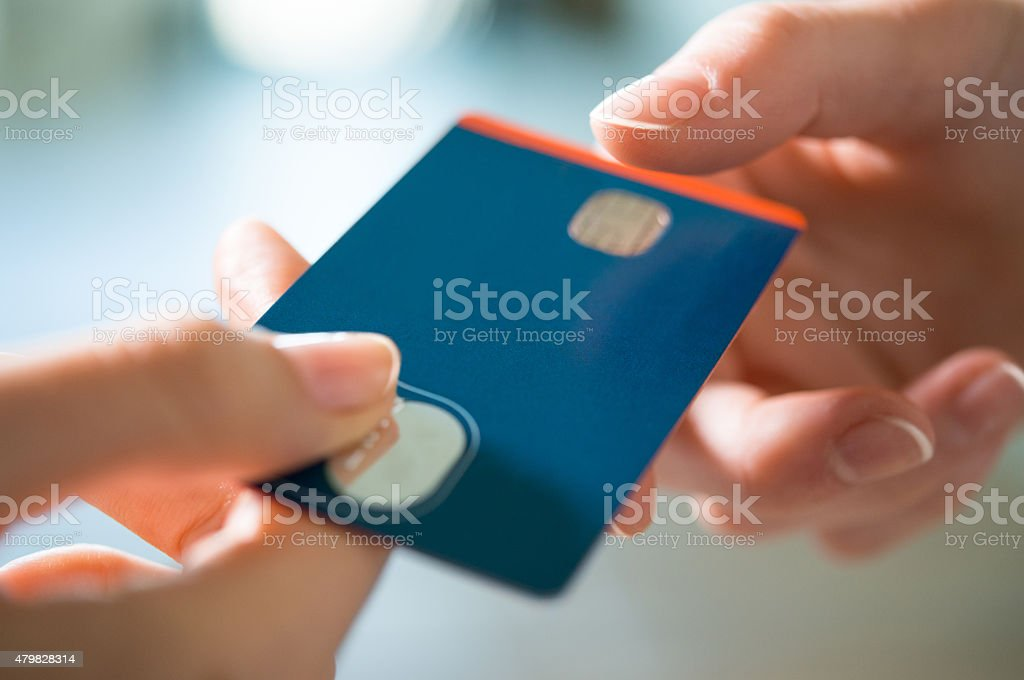 Buying with Credit Card stock photo