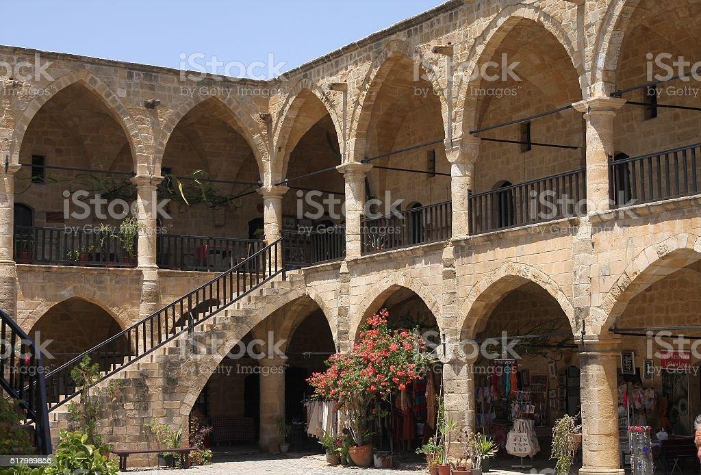 Buyuk Han Caravaserai, Nicosia, Northern Cyprus stock photo