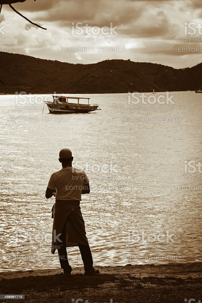 Buzios harbour at sunset royalty-free stock photo