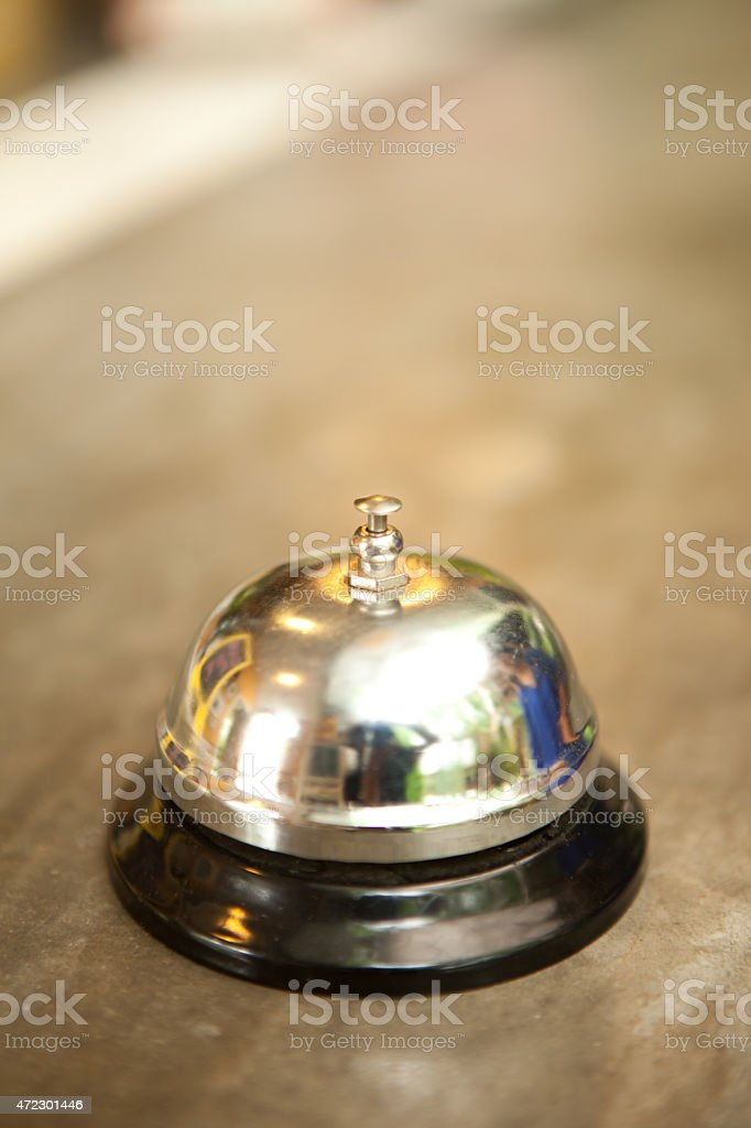 Buzzer bell on front desk stock photo
