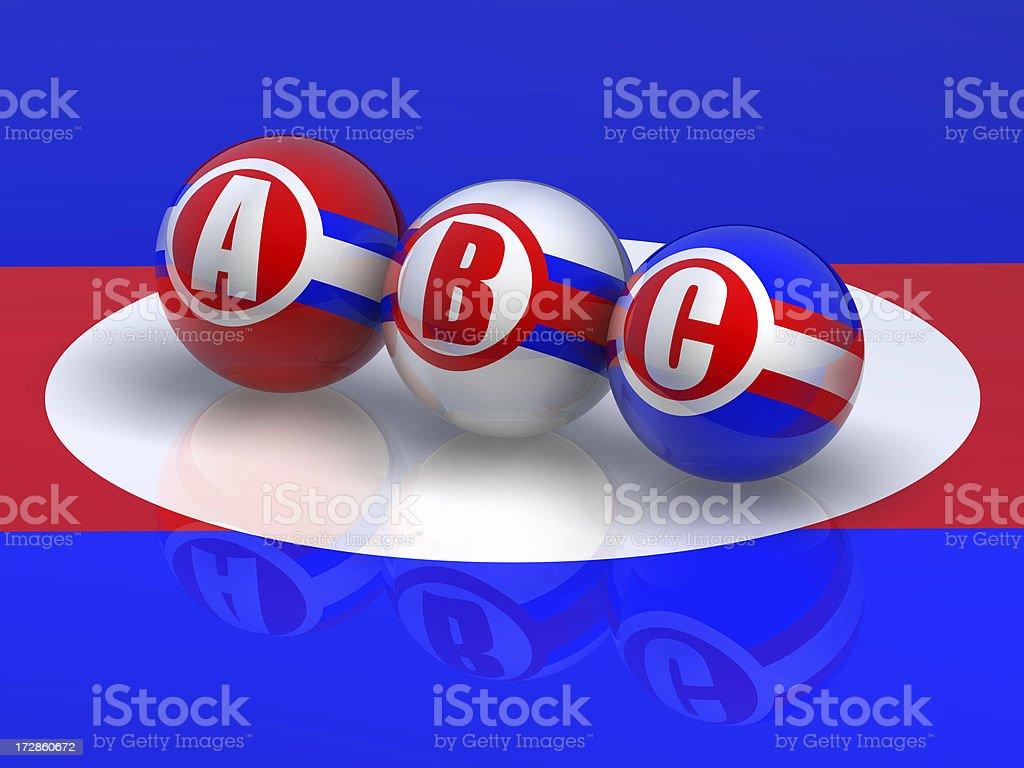 Buzzword ABC stock photo