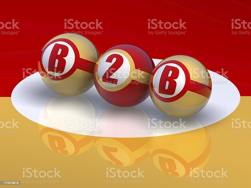 Buzzword B2B, Business2Business stock photo