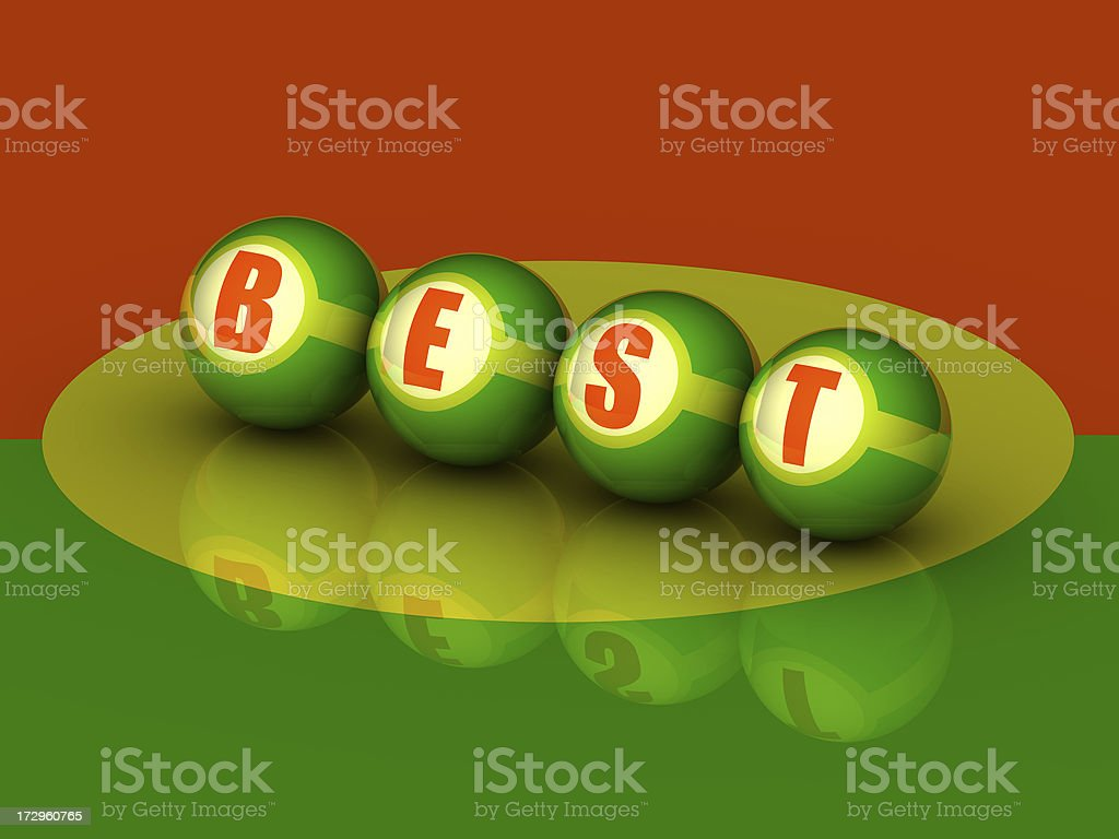 Buzzword 'BEST' (3D) royalty-free stock photo