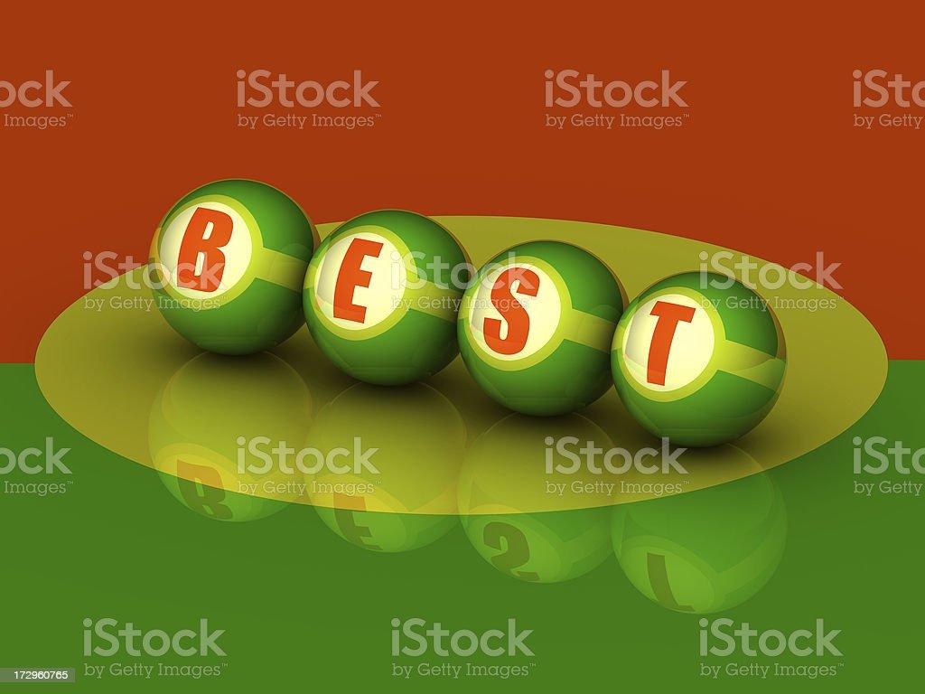 Buzzword 'BEST' (3D) stock photo