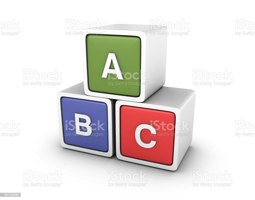 Buzzword Blocks: A B C royalty-free stock photo