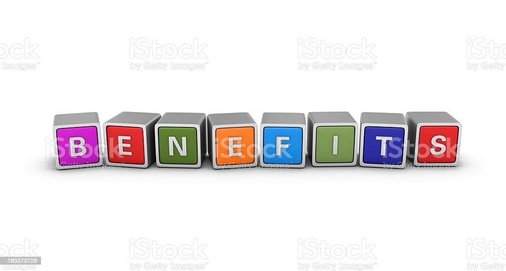 Buzzword Blocks: BENEFITS stock photo