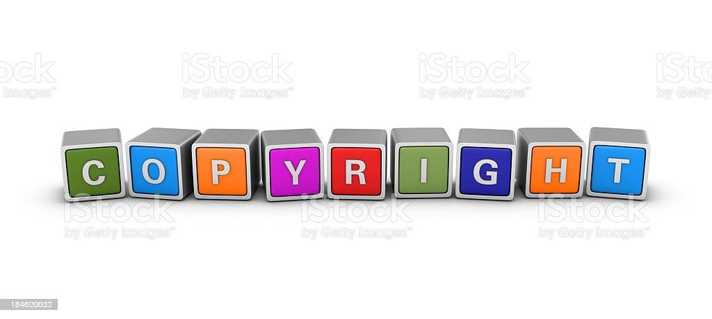 Buzzword Blocks: COPYRIGHT royalty-free stock photo