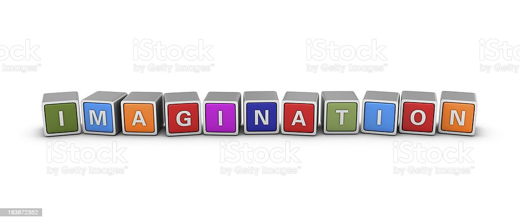 Buzzword Blocks: IMAGINATION royalty-free stock photo