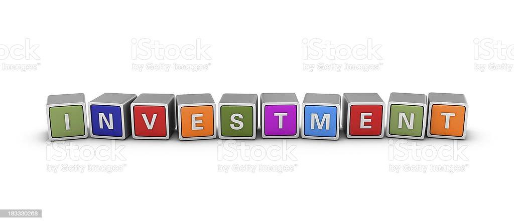 Buzzword Blocks: INVESTMENT royalty-free stock photo