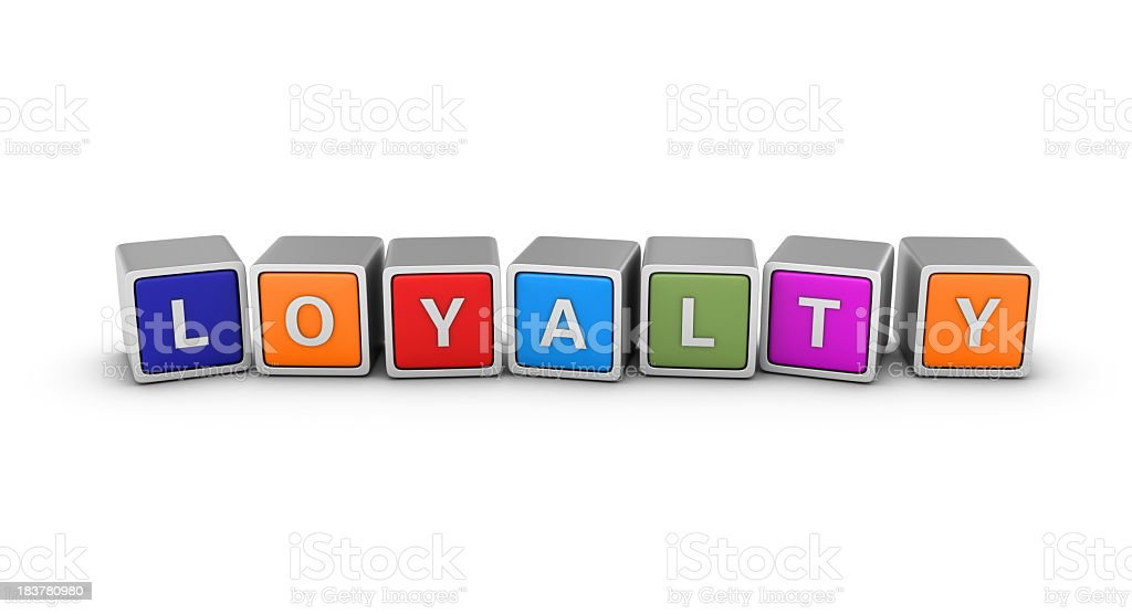 Buzzword Blocks: LOYALTY royalty-free stock photo