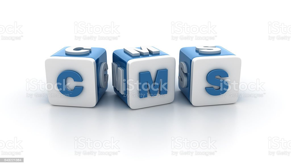 Buzzword Blocks Series - CMS stock photo
