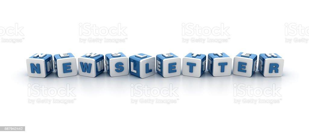 Buzzword Blocks Series - NEWSLETTER stock photo