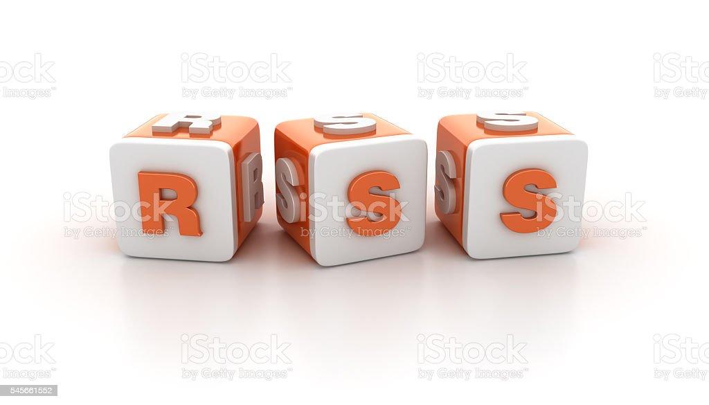 Buzzword Blocks Series - RSS stock photo