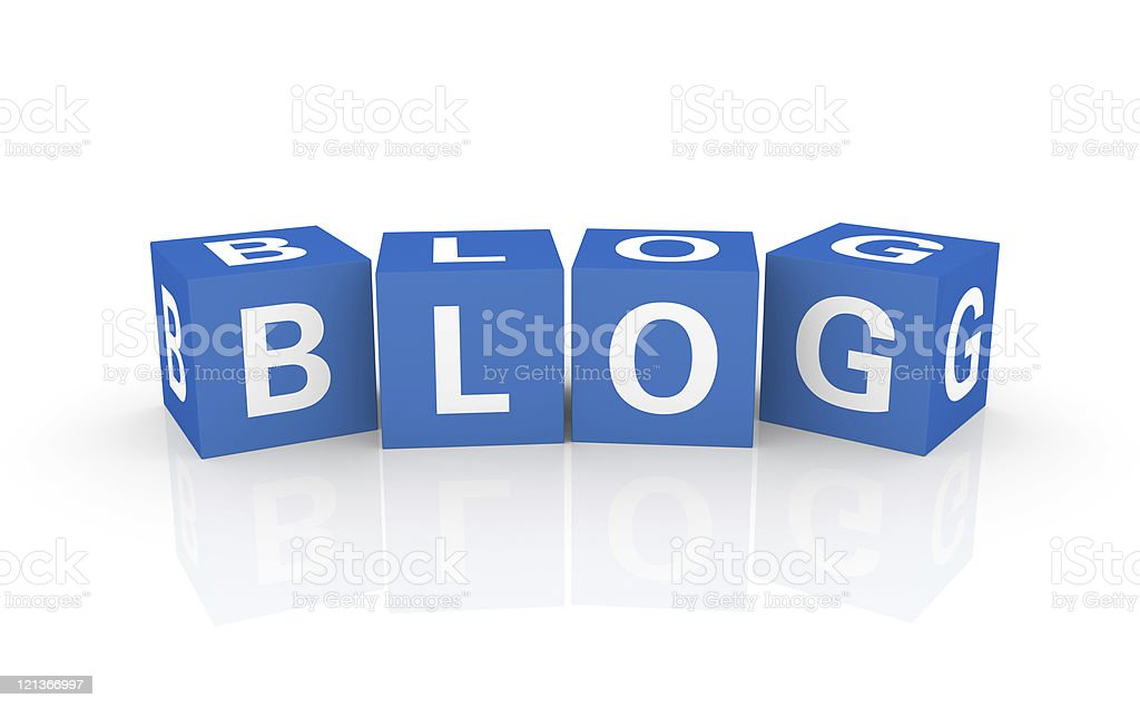 Buzzword Cubes: Blog royalty-free stock photo