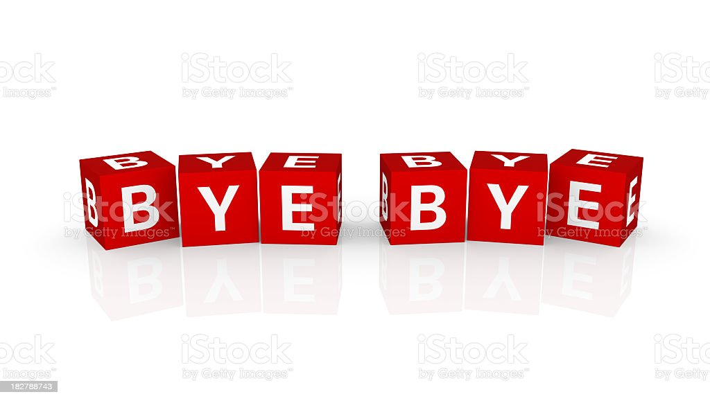 Buzzword Cubes: ByeBye royalty-free stock photo